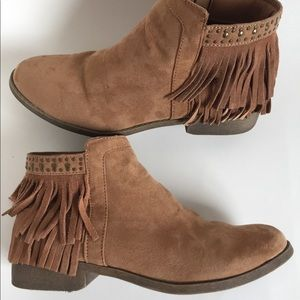 Mossimo Ruthie Fringe Ankle Booties
